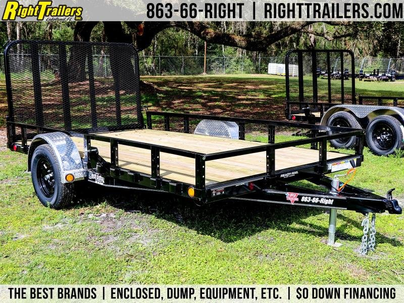 6X12 PJ Trailers 83 in. Single Axle Channel Utility (U8) Utility Trailer