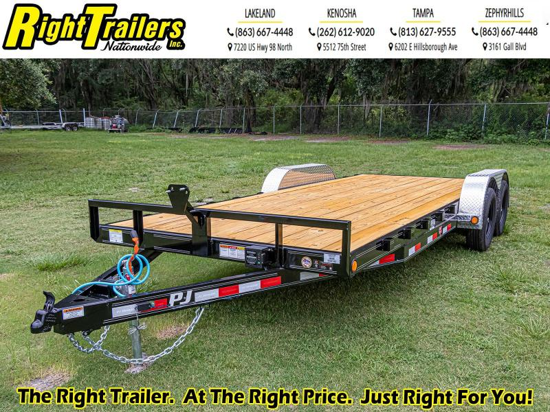 7X20 PJ Trailers 5 in. Channel Carhauler (C5) Equipment Trailer