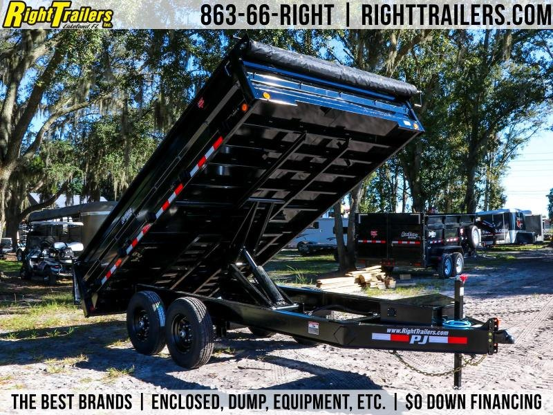 8x14 PJ Trailers Dump | Deck Over Dump Trailer