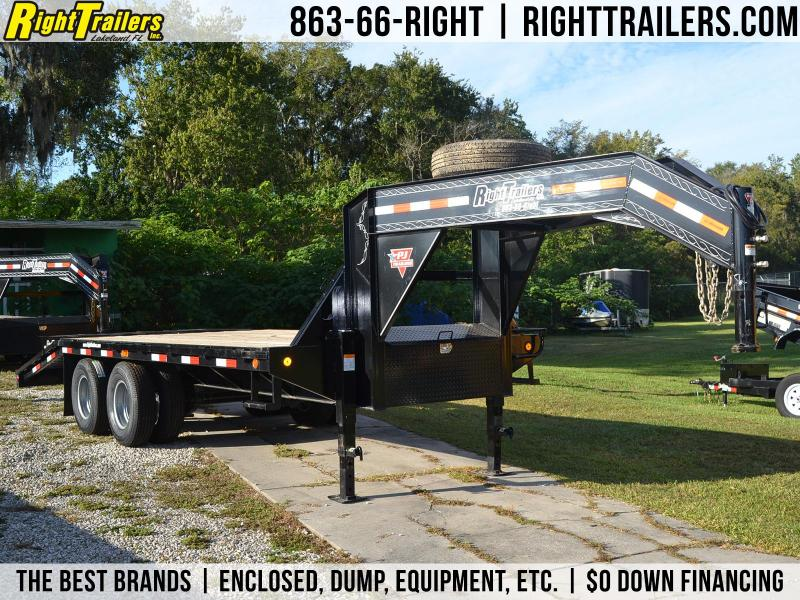 8.5x20 PJ Trailers | Equipment Trailer [Gooseneck]