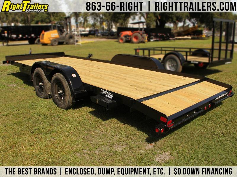 7x18 Big Tex Trailer   Open Car Hauler
