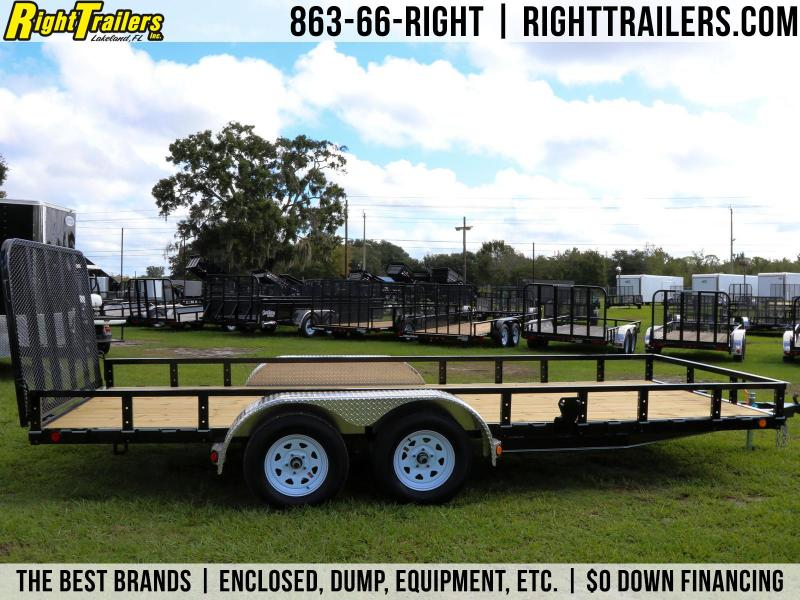 7X18  PJ Trailers 83 in. Tandem Axle Channel Utility Trailer