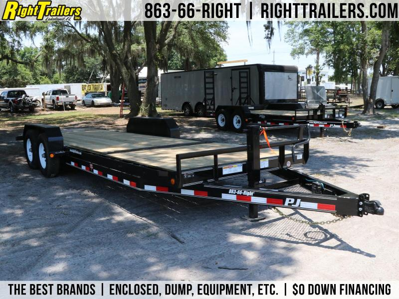 7x22 PJ   Tilt Deck   Car Hauler Trailer