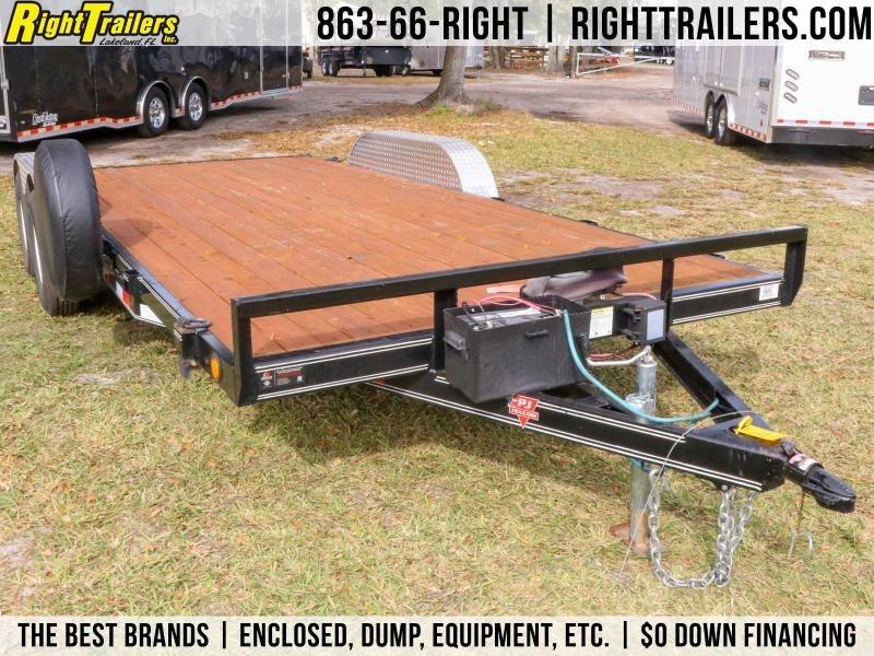 Used 7x18 PJ Trailers   Car / Equipment Trailer