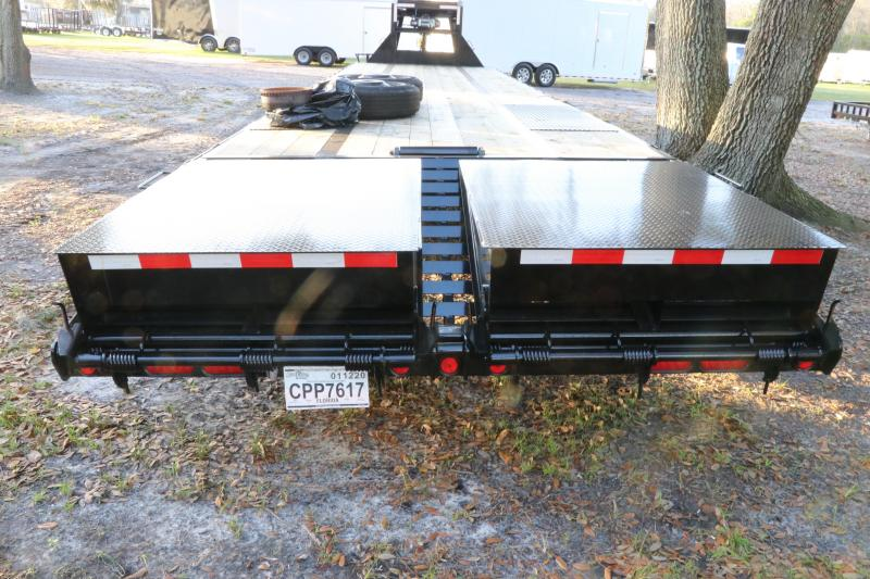( Used ) 8.5x40 PJ  | Gooseneck Flatbed Trailer ( With PRO-MAXX Air Suspension )