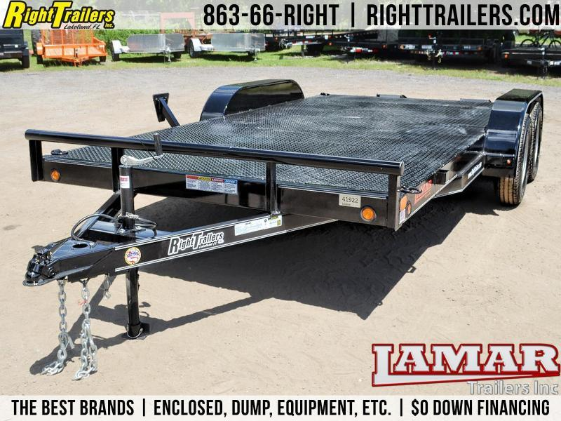 7x16 Lamar Trailers | Open Car Hauler [Black]