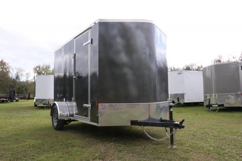 6x10 Continental Cargo   Enclosed Trailer