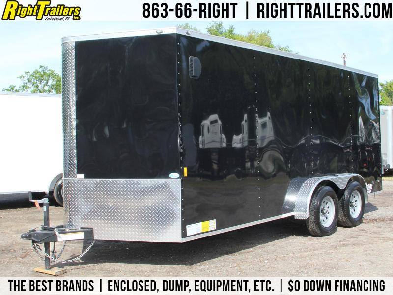7x16 Continental Cargo | Enclosed Trailer [Black]