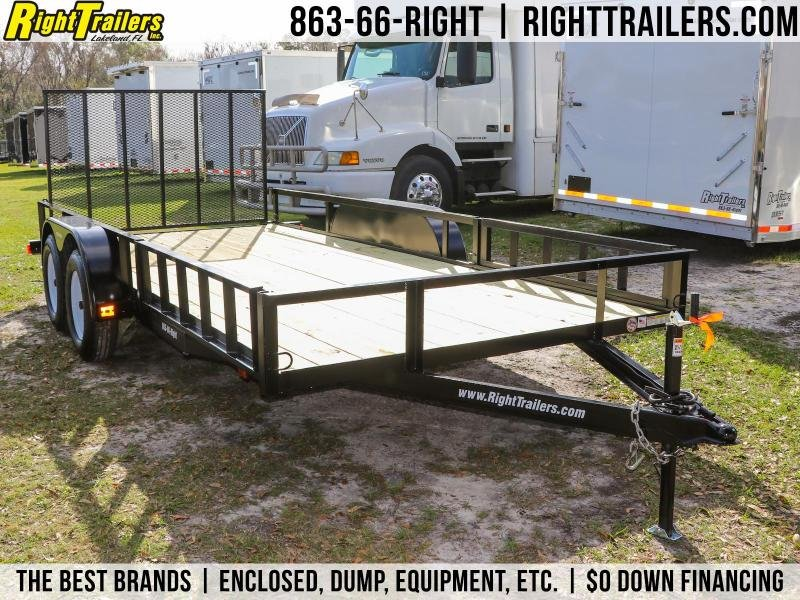 7x16 Red Hot Trailers | Utility Trailer