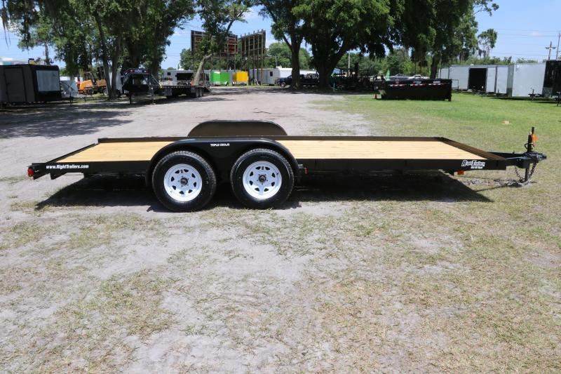 7 x 18 Red Hot | Open Car Hauler Equipment Trailer