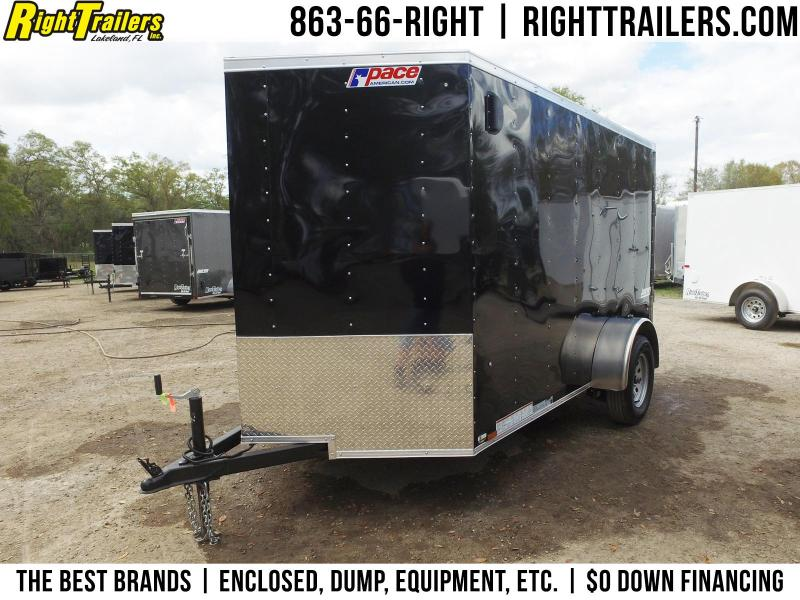 6x10 Pace American   Enclosed Trailer [Black]