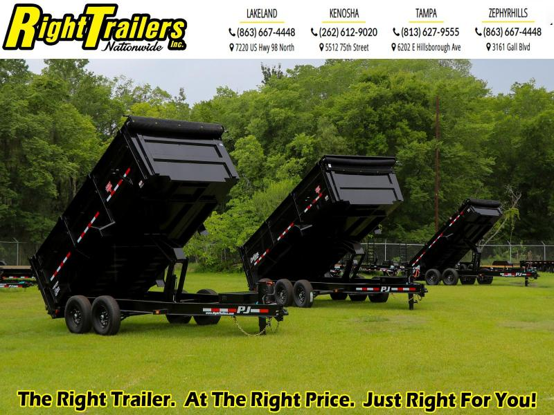 7X14 PJ Trailers 83 Low Pro High Side Dump (DM) Dump Trailer