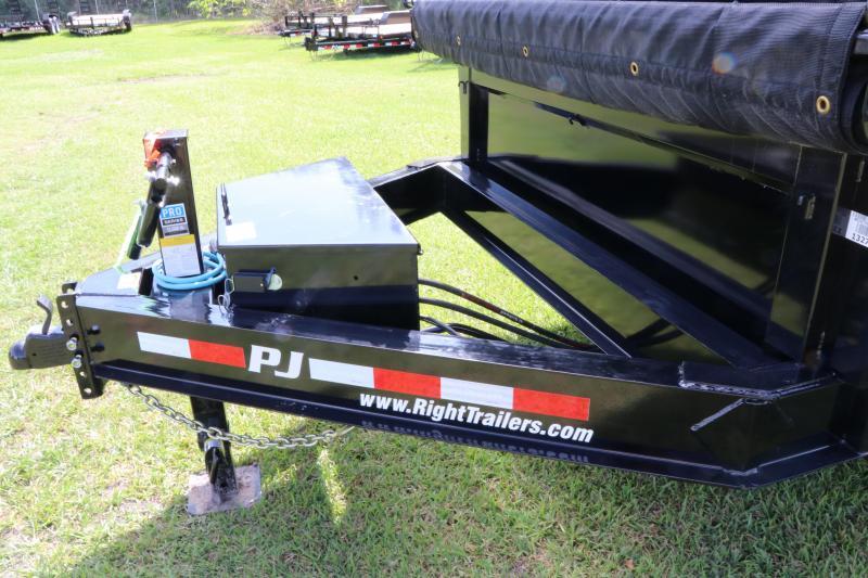 7x16x4 PJ Trailers   Triple Axle Gooseneck Dump Trailer