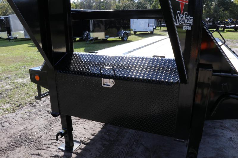 8.5x32 PJ Trailers | Flatbed Trailer ( Hydraulic Dovetail )