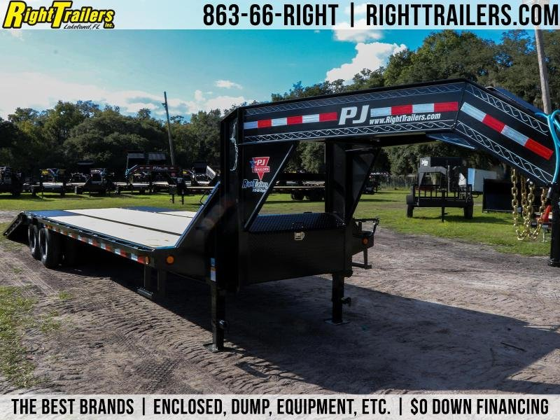 8.5x32 PJ Trailers | Flatbed Trailer ( Hydraulic Dovetail )