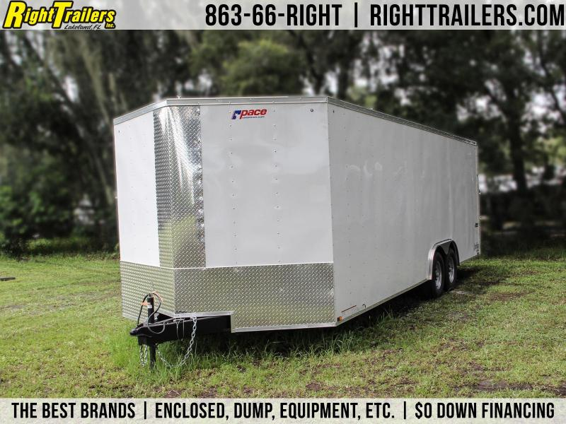 8.5x24 Pace American   Enclosed Trailer