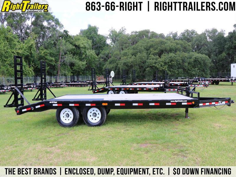 8.5x19 PJ   Deck Over   Equipment Trailer