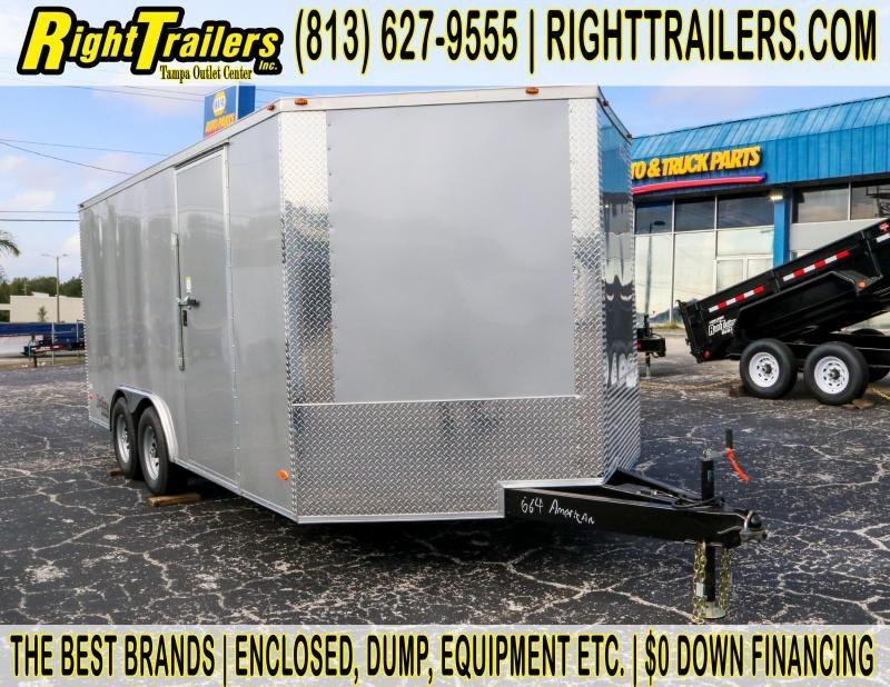 8.5x16 Red Hot Trailers   Enclosed Trailer