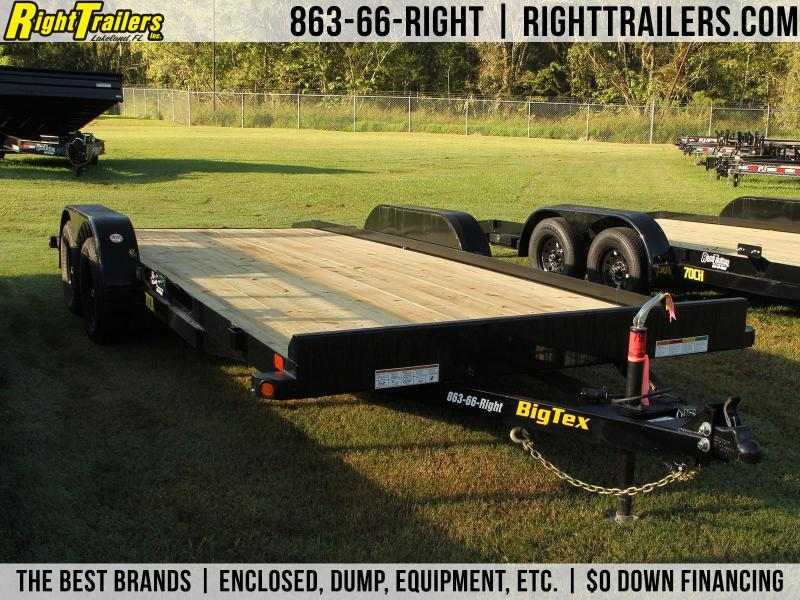7x20 BigTex Trailers | Open Car Hauler