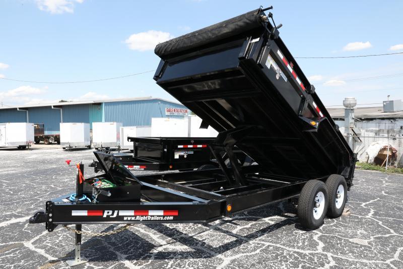 7x14 PJ | Solar Charger | Dump Trailer