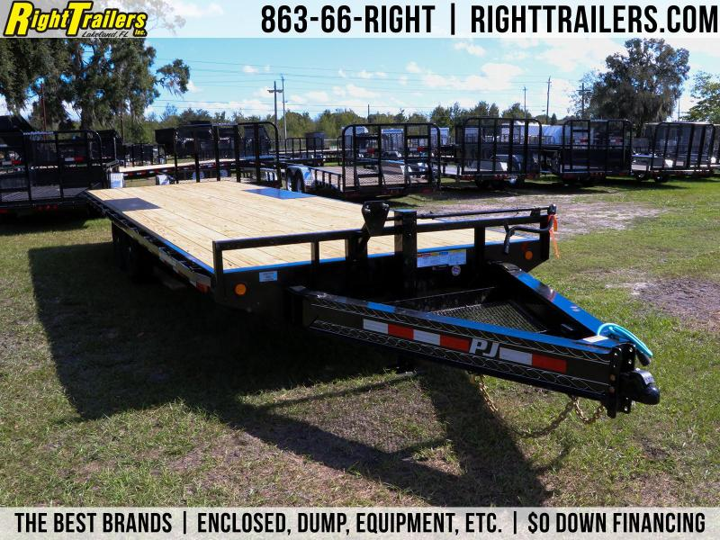 8x24 PJ Trailers 8 in. I-Beam Deckover I Flatbed Trailer