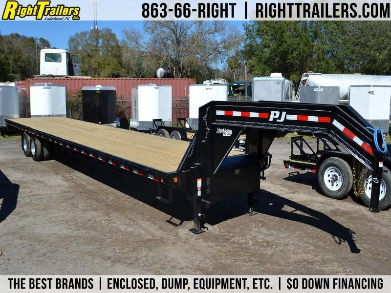 8.5x40 PJ Trailers   Gooseneck Equipment Trailer