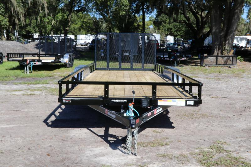 7X20 PJ Trailers 83 in. Tandem Axle Channel I Utility Trailer