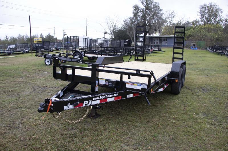7X16 PJ Trailers I Car / Equipment Trailer