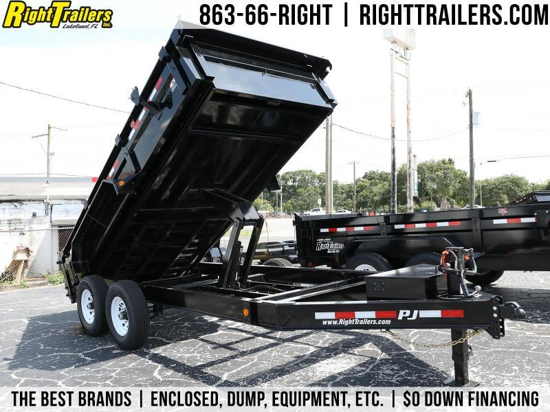 7x14 PJ Trailers | Low Pro 7K Dexter Axle Dump Trailer