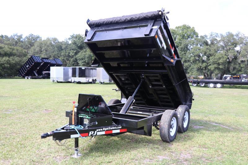 6x10 PJ Trailers | Heavy Duty Powder Coated Dump Trailer