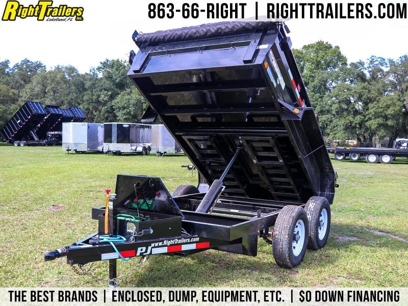 6x10 PJ Trailers | Heavy Duty Powder Coated Dump Trailer