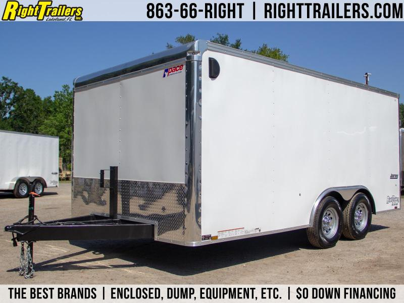 8.5x16 Pace American   Enclosed Trailer