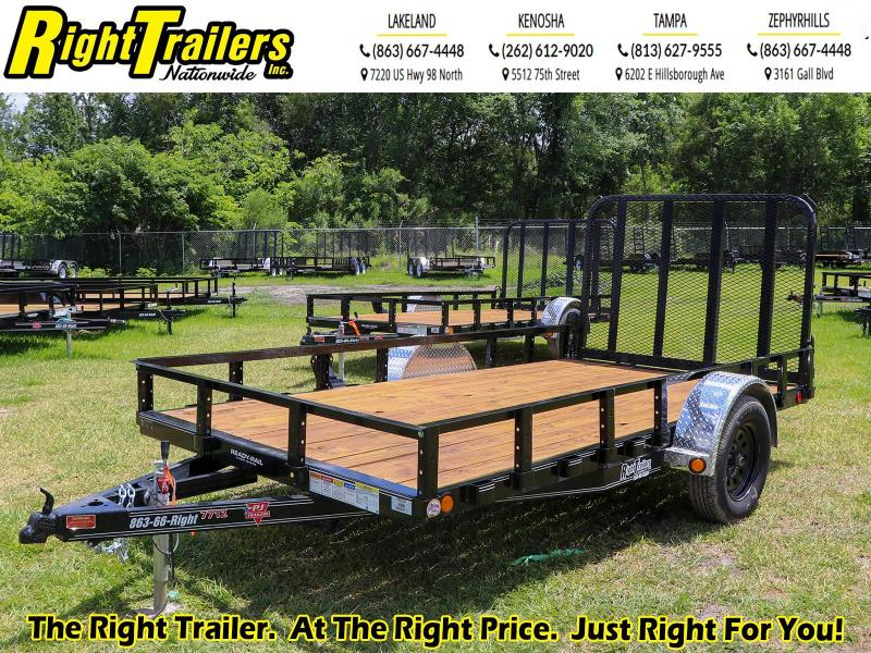 7X12 PJ Trailers 77 in. Single Axle Channel Utility (U7) Utility Trailer