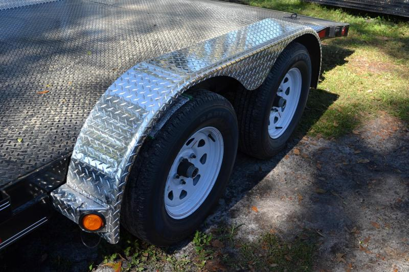 7x18 PJ | Car Hauler Trailer [Diamond Plate Steel]