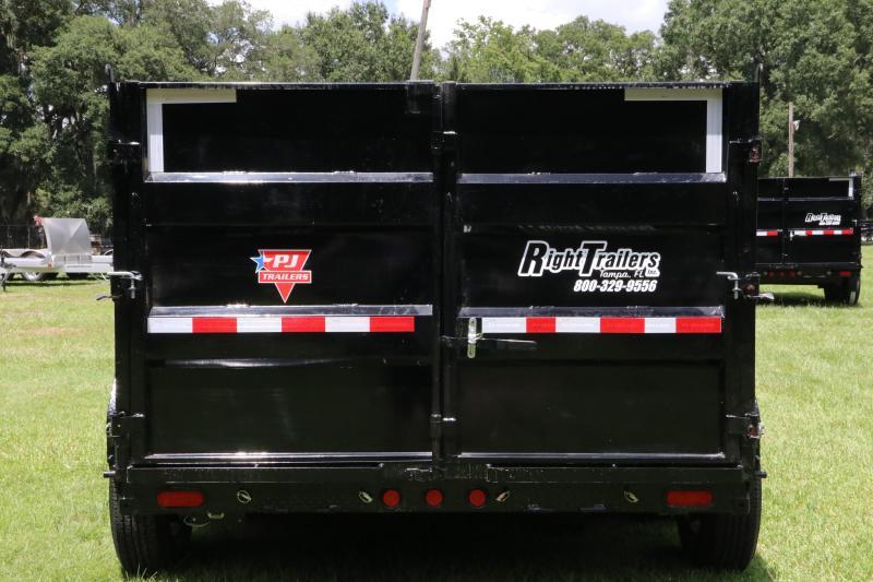 7x16x4 PJ Trailers | DM Low Pro High Side 10 Ton Dump Trailer