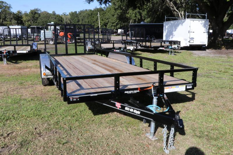 7X20 PJ Trailers 83 in. Tandem Axle Channel Utility I Utility Trailer