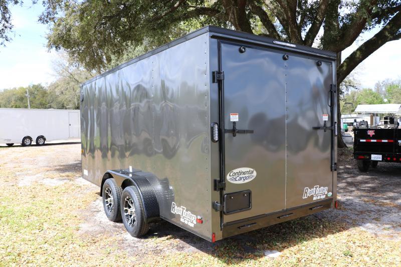 7X16 Continental Cargo  Enclosed Cargo Trailer