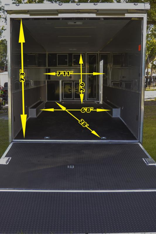 8.5x34 Continental Cargo | Enclosed Racing Trailer