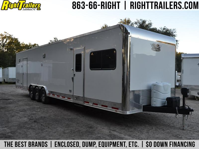 8.5x34 Vintage Trailers | Racing Trailer w/ Living Quarters