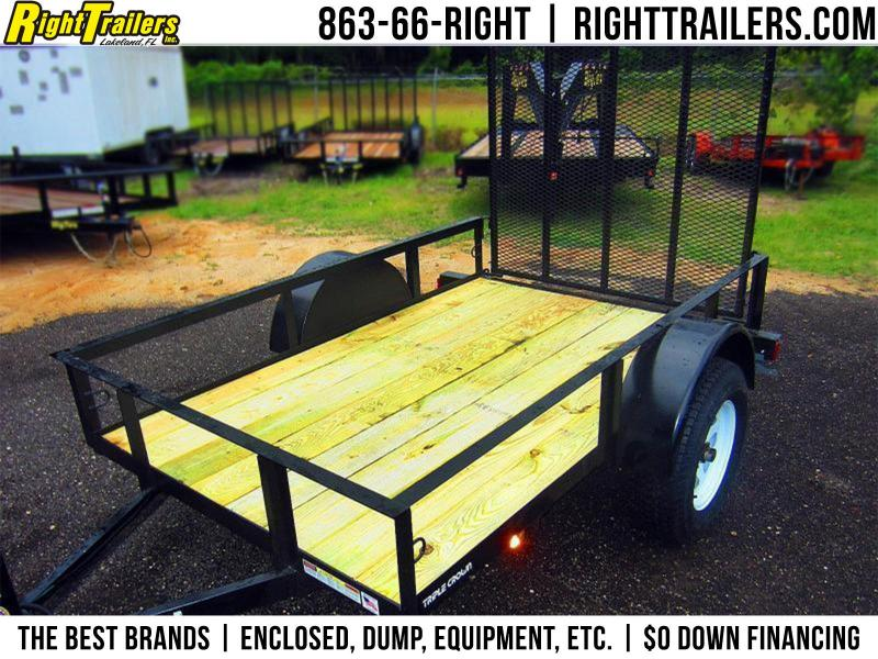 5x8 Red Hot Trailers   Utility Trailer