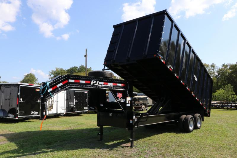 8x20x6 PJ Trailers | Gooseneck Deck Over Dump Trailer