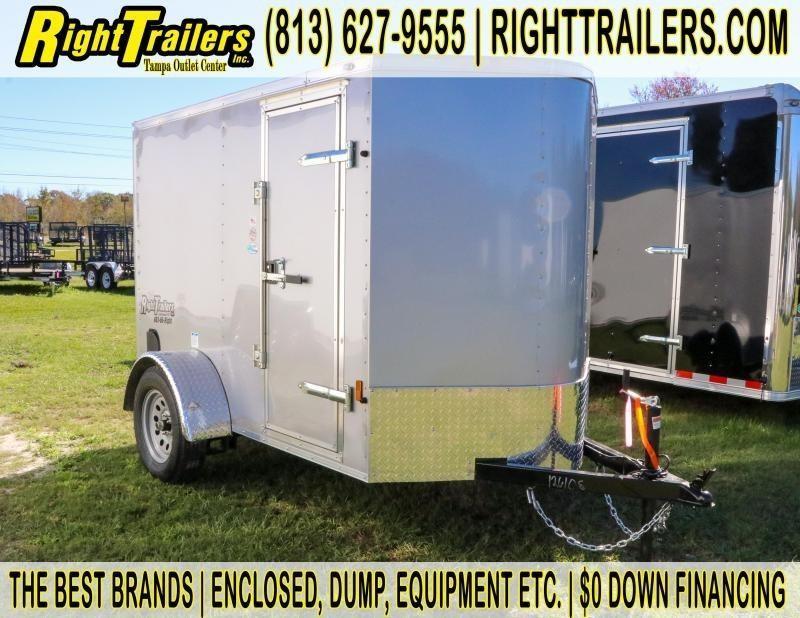 5x8 Continental Cargo   Enclosed Trailer