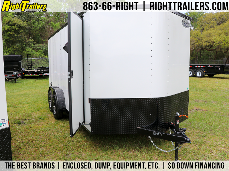 7X16 Continental Cargo   Enclosed Cargo Trailer w/ Black Out Package