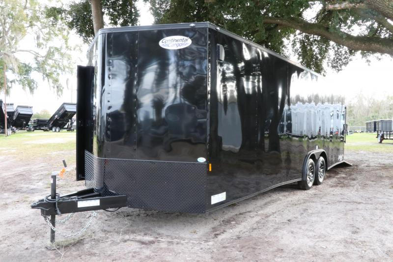 8.5x24 Continental Cargo   Enclosed Trailer ( Black Out Kit )