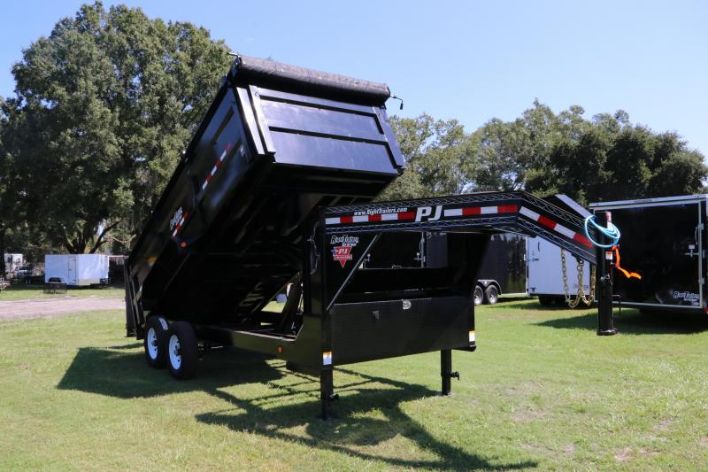 7x16 PJ Trailers   Gooseneck Dump Trailer
