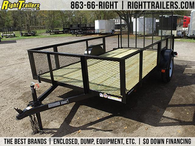 6x12 Red Hot Trailers | Utility Trailer [2' MESH SIDES]