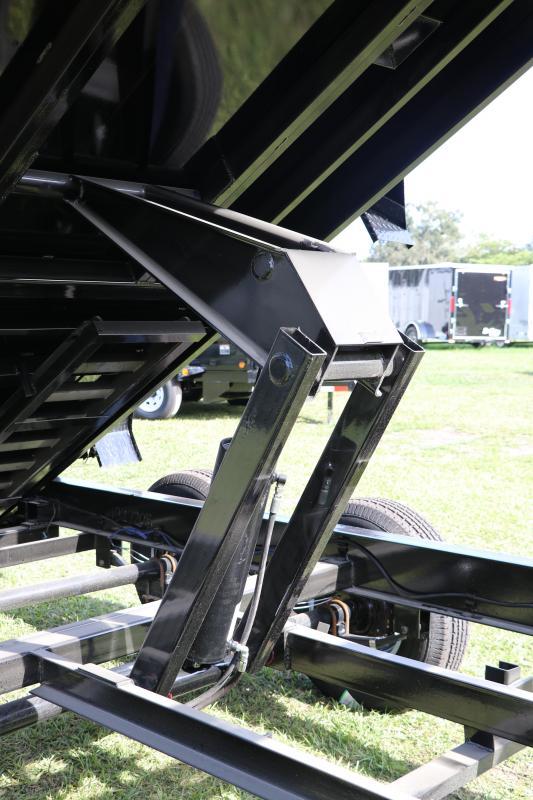 7X14X4 PJ Trailers I Gooseneck Dump Trailer With 4' High Sides