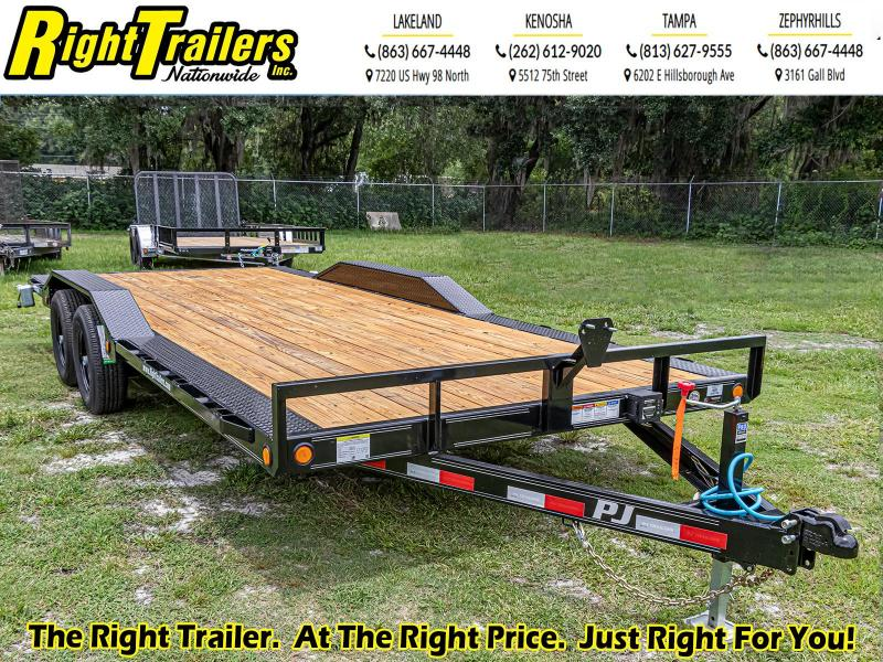 7X20 PJ Trailers 5 in. Channel Buggy Hauler (B5) Equipment Trailer