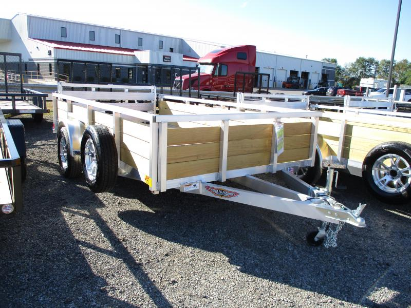 2020 H and H Trailer 76 X 12 Wood Side Aluminum Utility Trailer