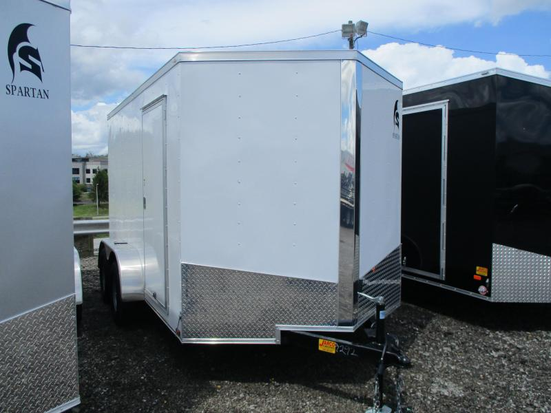 2020 Spartan Cargo 7 X 12 Tandem Axle Enclosed Cargo Trailer